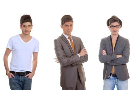 Photo pour fashion man, different mens styles, outfits, clothes. - image libre de droit