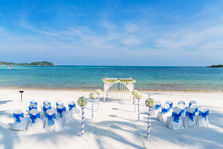 Photo pour Beach Wedding Venue - image libre de droit