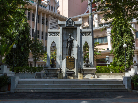 Statue of King Pinklao (Younger brother of King Rama IV) in front of the National Theatre in Bangkok, Thailand.