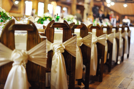 Photo pour wedding banquet  in a restaurant - image libre de droit