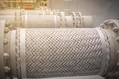Photo pour Flexible pipeline for reduce vibration from suction pump - image libre de droit