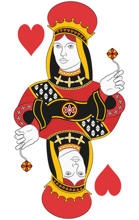 Illustration for Queen of hearts without card. Original design - Royalty Free Image