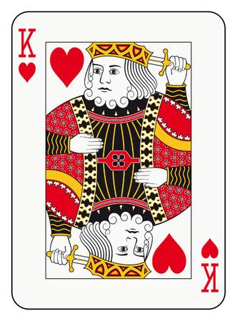 Illustration pour King of hearts playing card - image libre de droit