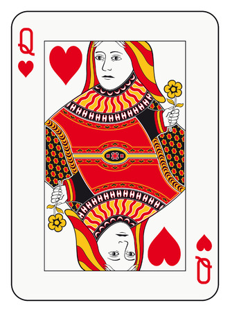 Illustration for Queen of hearts playing card - Royalty Free Image