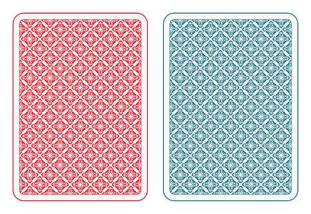 Illustration pour Playing cards back two colors - image libre de droit