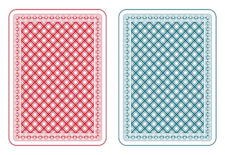 Ilustración de Playing cards back two colors - Imagen libre de derechos