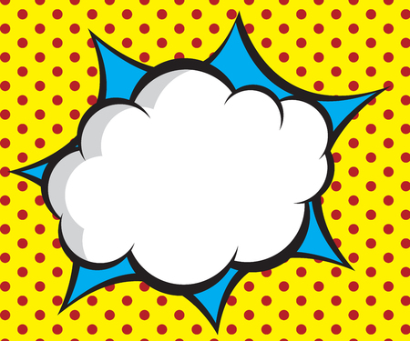 Illustration for speech bubble pop art,comic book background vector illustration - Royalty Free Image