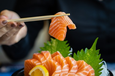 Photo for Salmon sliced meat - Royalty Free Image