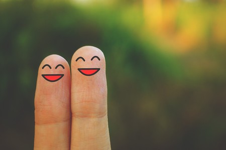 Photo for smile fingers - Royalty Free Image
