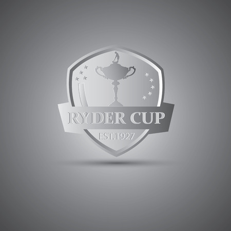 Ilustración de Metallic Ryder cup golf tournament icon - Imagen libre de derechos