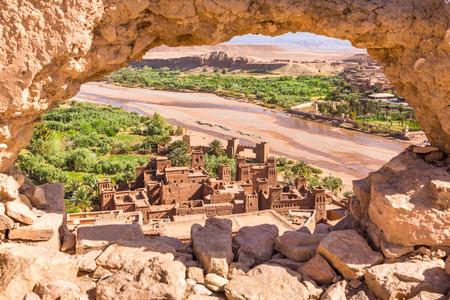Photo pour View of Ait Benhaddou Kasbah, Ait Ben Haddou, Ouarzazate, Morocco - image libre de droit