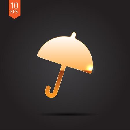 Vector flat umbrella icon  isolated on dark background. Eps10
