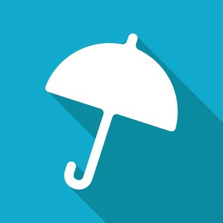 Vector flat umbrella icon isolated on dark background.