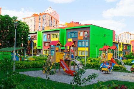 Foto de Modern and Colorful Kindergarten School Building - Imagen libre de derechos