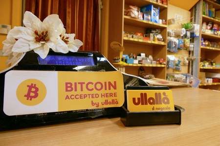 Photo for First bitcoin accepting store in town Turin Italy 23 January 2018 - Royalty Free Image