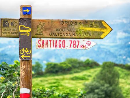 Foto de Signs on Camino de Santiago - Imagen libre de derechos