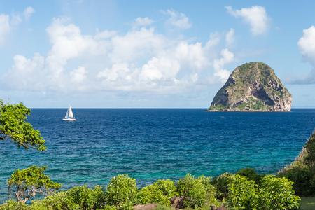 Foto per Rocher du Diamant (Diamond rock) in Martinique (July 2017) - Immagine Royalty Free