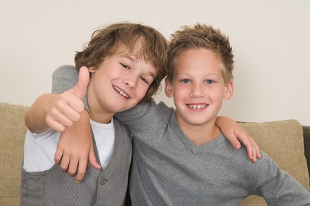 Photo for These two boys are best friends. Friends for life! - Royalty Free Image