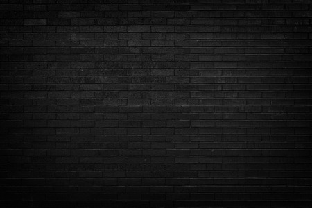 Photo pour Black brick wall for background  - image libre de droit