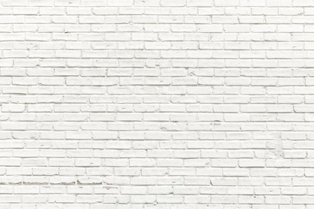 Foto de White brick wall for background or texture - Imagen libre de derechos