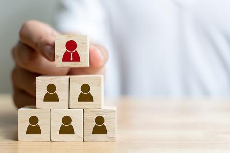 Photo pour Human resource management and recruitment business concept - image libre de droit