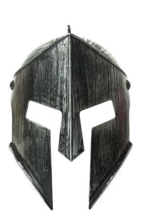 Photo pour Spartan helmet isolated on white background - image libre de droit