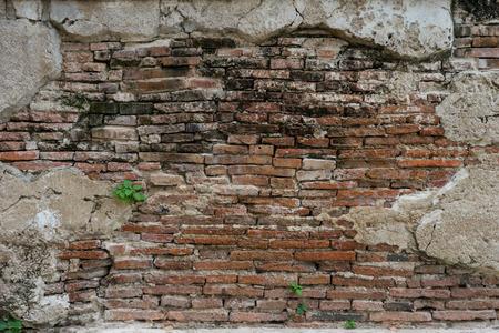 Photo pour cracked concrete vintage brick wall background - image libre de droit