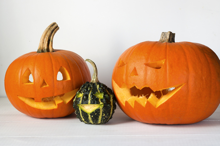 Photo for Halloween carved pumpkin, jack-o-lantern - Royalty Free Image
