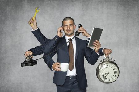 Photo pour multipurpose businessman - image libre de droit