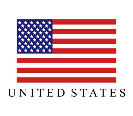 Illustration pour United States flag icon. - image libre de droit