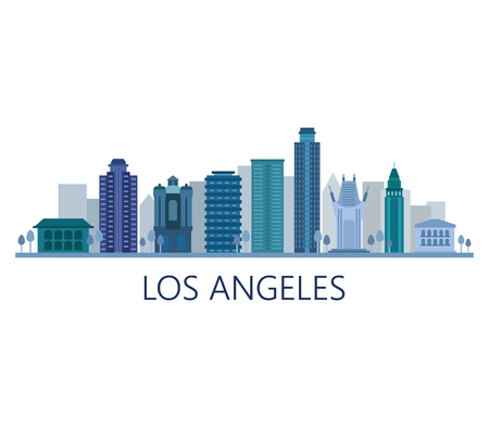 Illustration pour Los Angeles skyline - image libre de droit