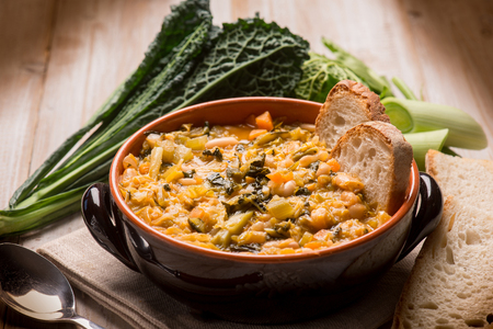 Photo for ribollita traditional tuscany soup, selective focus - Royalty Free Image