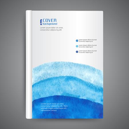 Illustration pour Abstract modern template book cover - image libre de droit
