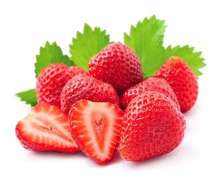 Photo for Ripe strawberry on white background. - Royalty Free Image