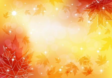 Autumn transparent background