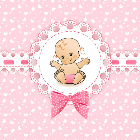 Illustration for Baby background with frame. Vector illustration. - Royalty Free Image