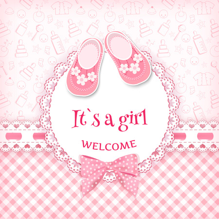 Ilustración de Baby shower card. Vector illustration. - Imagen libre de derechos