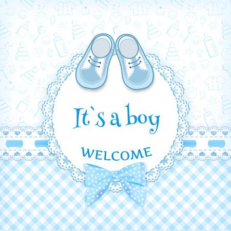 Foto de Baby shower card. Vector illustration. - Imagen libre de derechos