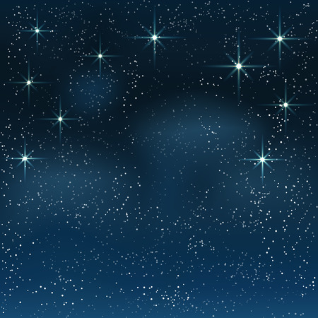 Illustration for Night starry sky. Vector background . - Royalty Free Image
