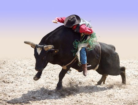 Cowboy Riding a Bull partial isolation with path