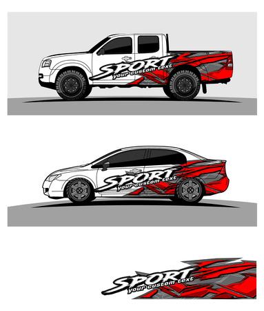 Photo pour car graphic vector. abstract racing shape design for vehicle vinyl wrap - image libre de droit