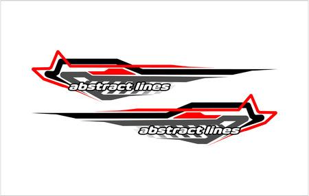 Illustration pour Abstract modern shape lines vector design for car sticker and vehicle branding - image libre de droit