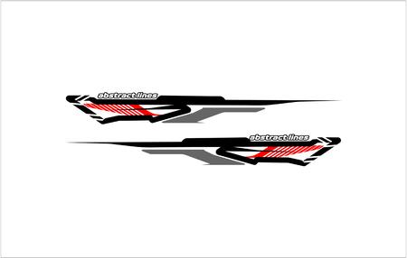 Illustration pour abstract tech shape lines design for car Stripe sticker design - image libre de droit