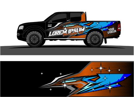 Foto de car livery Graphic vector. abstract racing shape design for vehicle vinyl wrap background - Imagen libre de derechos