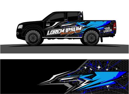 Photo pour Car livery Graphic vector. abstract racing shape design for vehicle vinyl wrap background, - image libre de droit