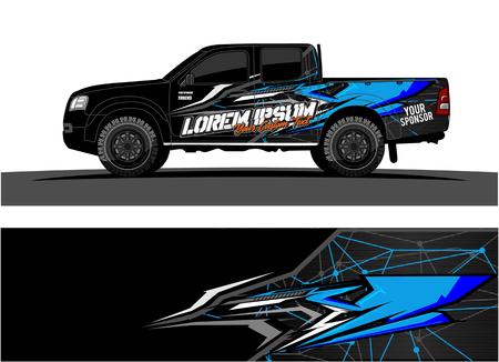 Photo pour car livery Graphic vector. abstract racing shape design for vehicle vinyl wrap background - image libre de droit