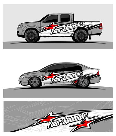 Photo pour Abstract racing vector background for truck car and vehicles wrap design. - image libre de droit