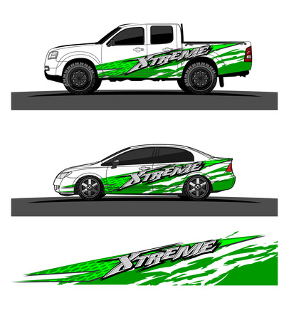 Illustration for Abstract racing vector background for truck car and vehicles wrap design. - Royalty Free Image