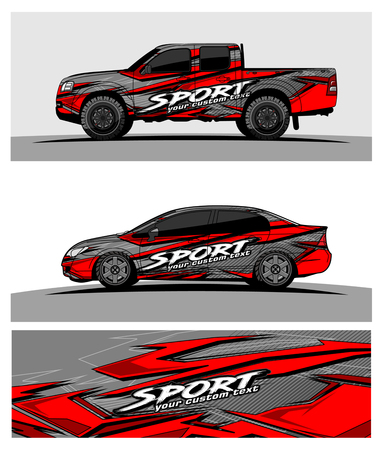 Foto per Abstract racing vector background for truck car and vehicles wrap design. - Immagine Royalty Free