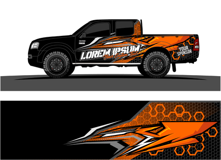Foto de Abstract racing vector background for truck car and vehicles wrap design. - Imagen libre de derechos